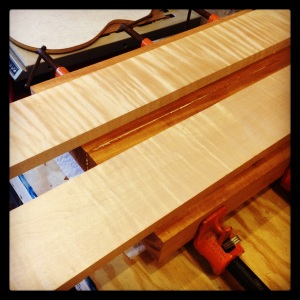 Curly maple neck blanks